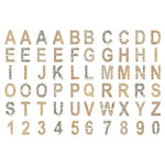 7 Gypsies - Off the Wall Collection - Chipboard Pieces - Alphabet and Numbers