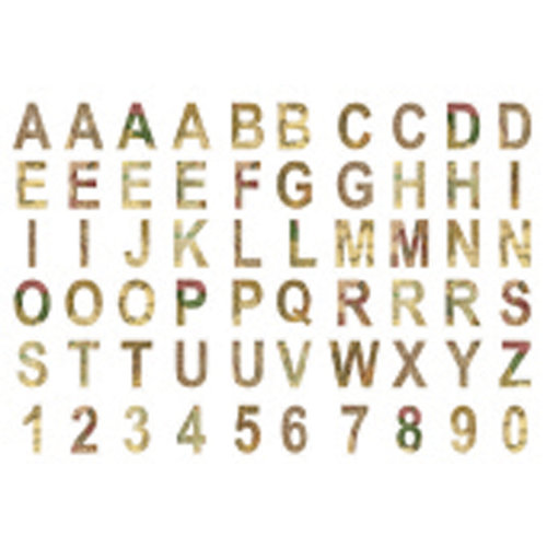7 Gypsies - Global Collection - Chipboard Pieces - Alphabet and Numbers