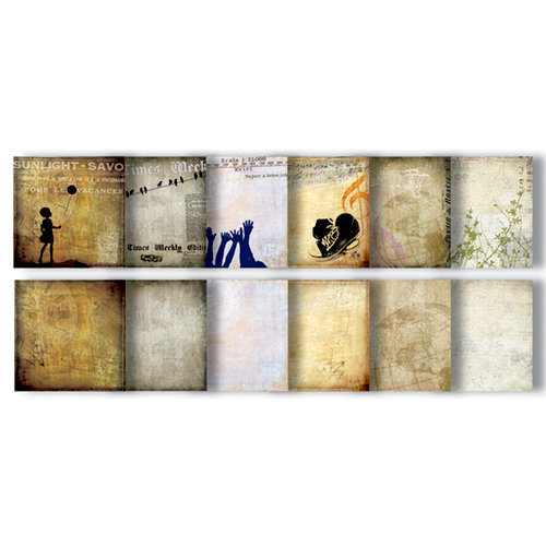 7 Gypsies - Off the Wall Collection - Paper Pad - 8 x 8
