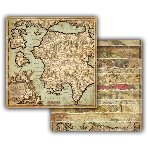 7 Gypsies - Global Collection - 12 x 12 Double Sided Paper - Greco