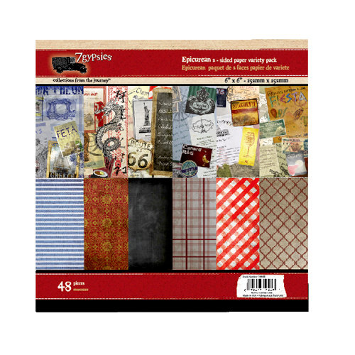 7 Gypsies - Epicurean Collection - 6 x 6 Paper Pack