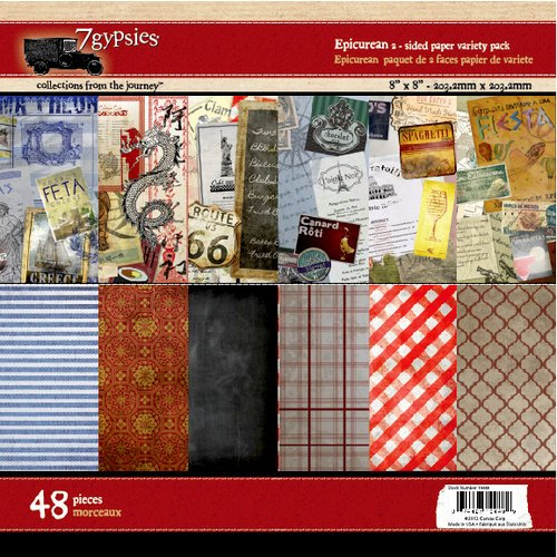 7 Gypsies - Epicurean Collection - 8 x 8 Paper Pack
