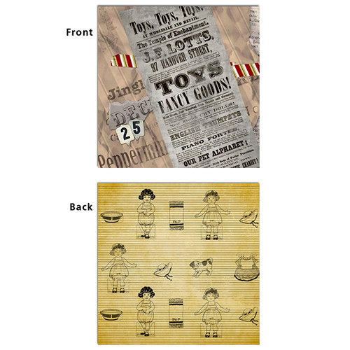7 Gypsies - Santa's Journey Collection - Christmas - 12 x 12 Double Sided Paper - Christmas List