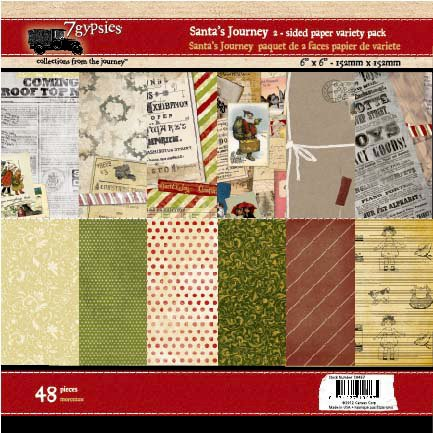 7 Gypsies - Santa's Journey Collection - Christmas - 6 x 6 Paper Pack