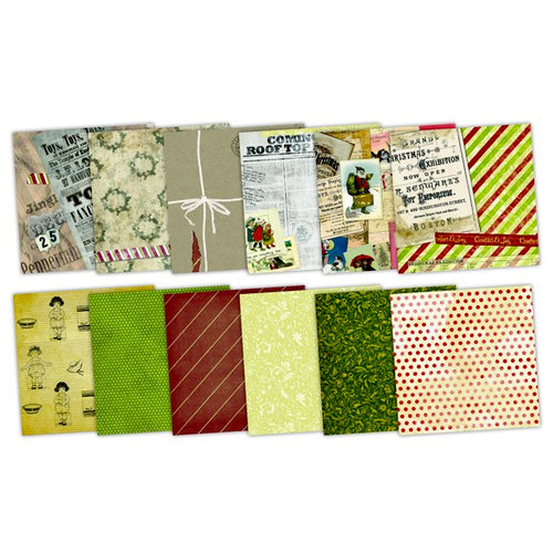 7 Gypsies - Santa's Journey Collection - Christmas - 8 x 8 Paper Pack