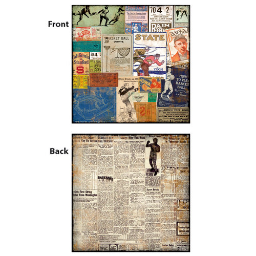 7 Gypsies - Vintage Varsity Collection - 12 x 12 Double Sided Paper - Stubs