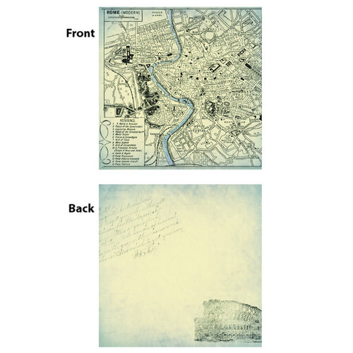 7 Gypsies - Gypsy Travels Collection - 12 x 12 Double Sided Paper - Coliseum