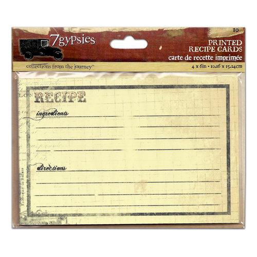 7 Gypsies - Printed Recipe Cards