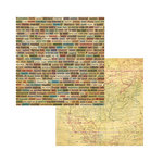 7 Gypsies - American Vintage Collection - 12 x 12 Double Sided Paper - Across USA