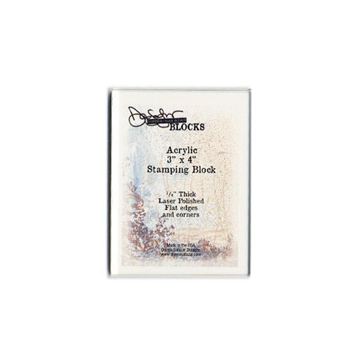 Donna Salazar - Acrylic Stamping Block - 3 x 4