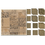 Tim Holtz - Idea-ology Collection - Halloween - 12 x 12 Paper Stash - Kraft Resist