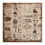 Tim Holtz - District Market Collection - Idea-ology - 12 x 12 Burlap Canvas Panel - Adverts