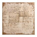 Tim Holtz - District Market Collection - Idea-ology - 12 x 12 Burlap Canvas Panel - Memoirs