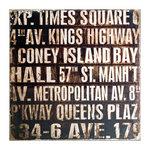 Tim Holtz - District Market Collection - Idea-ology - 12 x 12 Burlap Canvas Panel - Subway