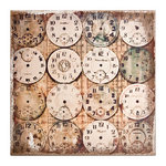 Tim Holtz - District Market Collection - Idea-ology - 12 x 12 Burlap Canvas Panel - Watchmaker