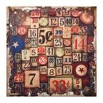 Tim Holtz - District Market Collection - Idea-ology - 12 x 12 Burlap Canvas Panel - Amusement