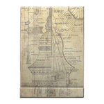 Tim Holtz - District Market Collection - Idea-ology - Matchbook Notepad - Blueprint
