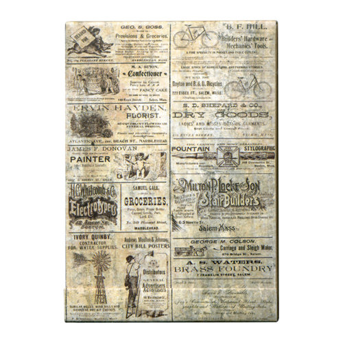 Tim Holtz - District Market Collection - Idea-ology - Matchbook Notepad - Advert