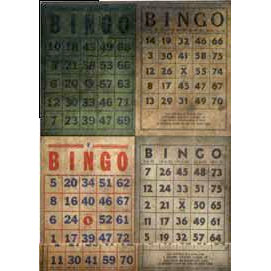 Tim Holtz - District Market Collection - Idea-ology - Matchbook Notepad - Bingo