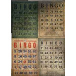 Tim Holtz - District Market Collection - Idea-ology - Matchbook Notepad - Bingo