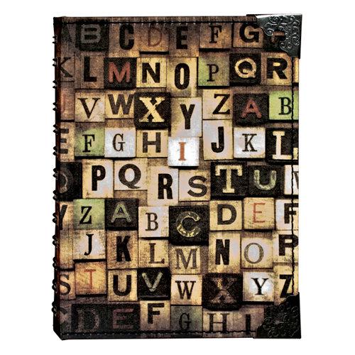 Tim Holtz - District Market Collection - Idea-ology - Spiral Journal - Large - Alphabetical