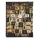 Tim Holtz - District Market Collection - Idea-ology - Spiral Journal - Large - Alphabetical
