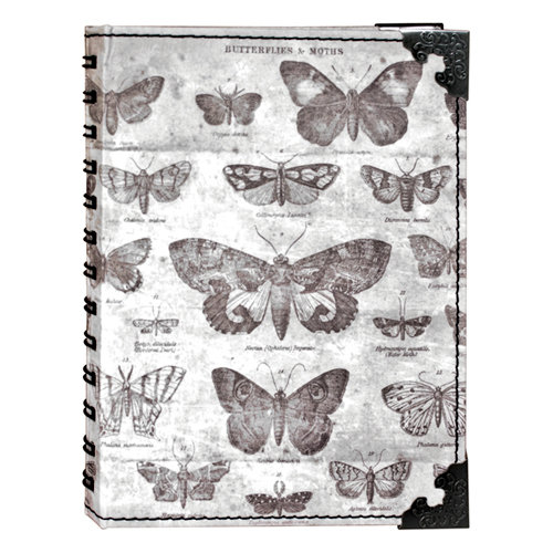 Tim Holtz - District Market Collection - Idea-ology - Spiral Journal - Large - Butterflies