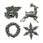 Tim Holtz - Idea-ology Collection - Adornments - Metal Charms - Christmas