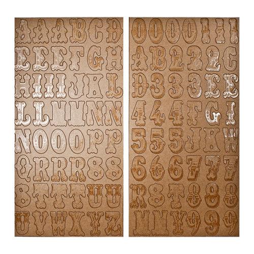 Tim Holtz - Idea-ology Collection - Chipboard Letters - Kraft Resist