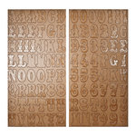 Tim Holtz - Idea-ology Collection - Chipboard Letters - Kraft Resist