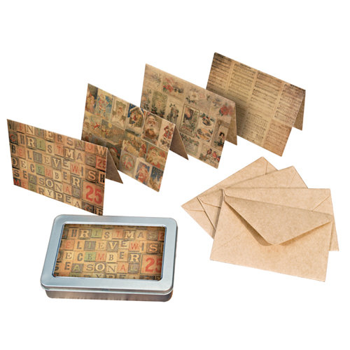 Tim Holtz - District Market Collection - Idea-ology - Notecard Set - Merriment