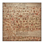 Tim Holtz - Idea-ology Collection - Christmas - 12 x 12 Paper Stash - Kraft Resist - Seasonal