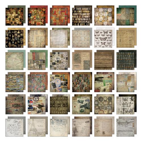 Tim Holtz - Idea-ology Collection - 8 x 8 Mini Paper Stash - Collage