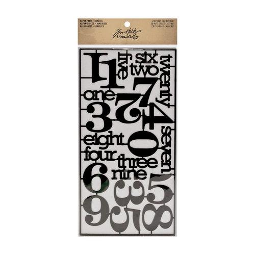 Tim Holtz - Idea-ology Collection - Alpha Parts - Numeric