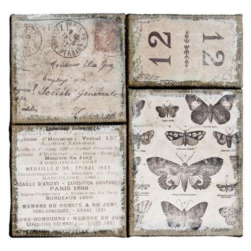 Tim Holtz - District Market Collection - Idea-ology - Burlap Canvas Panels - French