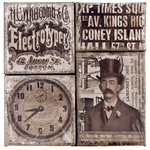 Tim Holtz - District Market Collection - Idea-ology - Burlap Canvas Panels - Steam Punk