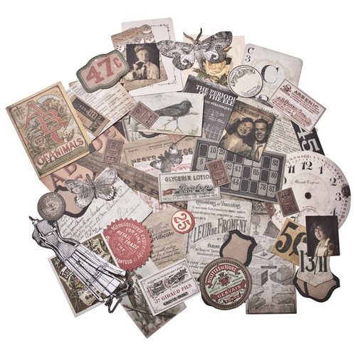 Advantus - Tim Holtz - Idea-ology Collection - Ephemera Pack - Thrift Shop