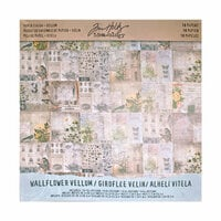 Idea-ology - Tim Holtz - 12 x 12 Vellum Paper Stash - Wallflower