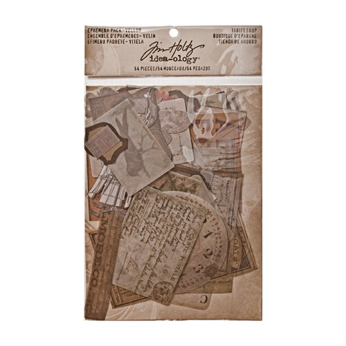 Advantus - Tim Holtz - Idea-ology Collection - Ephemera Pack - Vellum - Thrift Shop