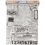 Tim Holtz - Idea-ology Collection - Tissue Wrap Paper - Postale
