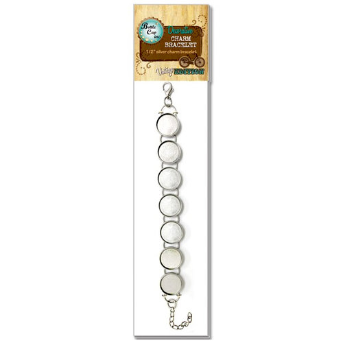 Bottle Cap Inc - Vintage Edition Collection - Jewelry - Round Bracelet - Antique Silver - 13mm