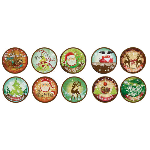 Bottle Cap Inc - Vintage Edition Collection - Bottle Cap Images - Santa Baby - 1 Inch