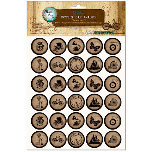 Bottle Cap Inc - Vintage Edition Collection - Bottle Cap Images - Steampunk 1 - 1 Inch