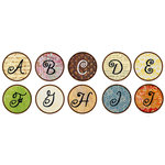 Bottle Cap  Inc - Vintage Edition Collection - Bottle Cap Images - Vintage Funky Alphabet - 1 Inch