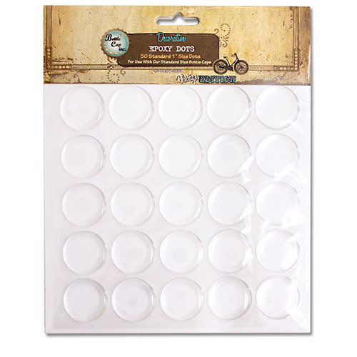 Bottle Cap Inc - Vintage Edition Collection - Epoxy Dots - 1 Inch