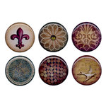 Bottle Cap  Inc - Vintage Edition Collection - Epoxy Stickers - Abstract Paper 1