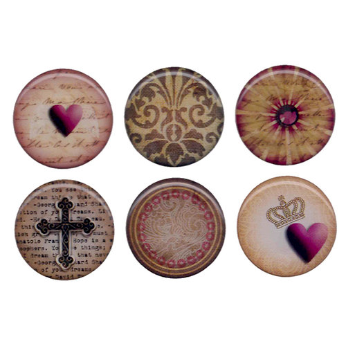 Bottle Cap  Inc - Vintage Edition Collection - Epoxy Stickers - Abstract Paper 3