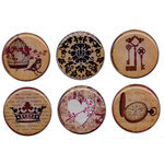 Bottle Cap  Inc - Vintage Edition Collection - Epoxy Stickers - Amber Romance