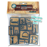 Bottle Cap Inc - Vintage Edition Collection - Altered Art - Letter Press Set - Alphabet