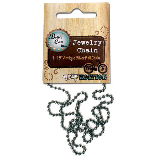 Bottle Cap Inc - Vintage Edition Collection - Jewelry - Ball Chain - Antique Silver